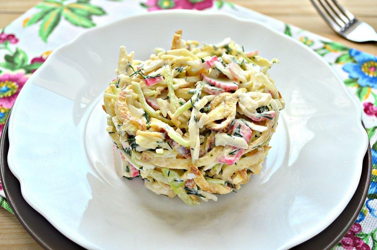 Салат с блинами и курицей - необыкновенно вкусный и воздушный с разными ингредиентами: рецепты с фото и видео