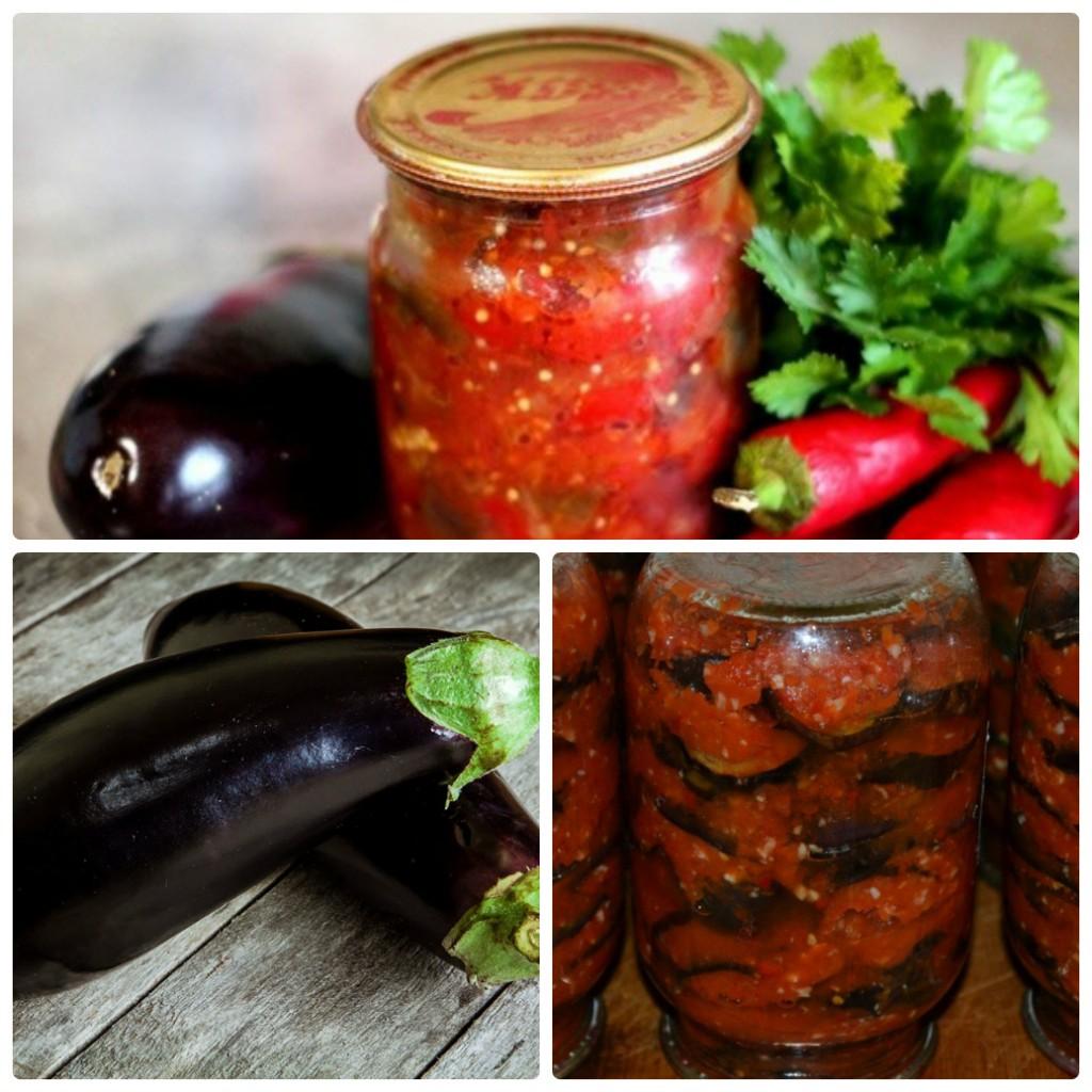 Пошаговые рецепты приготовления закуски Тещин язык с баклажанов на зиму с помидорами и чесноком