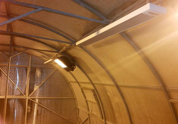 Обогреватели для теплицы из поликарбоната: виды и установка