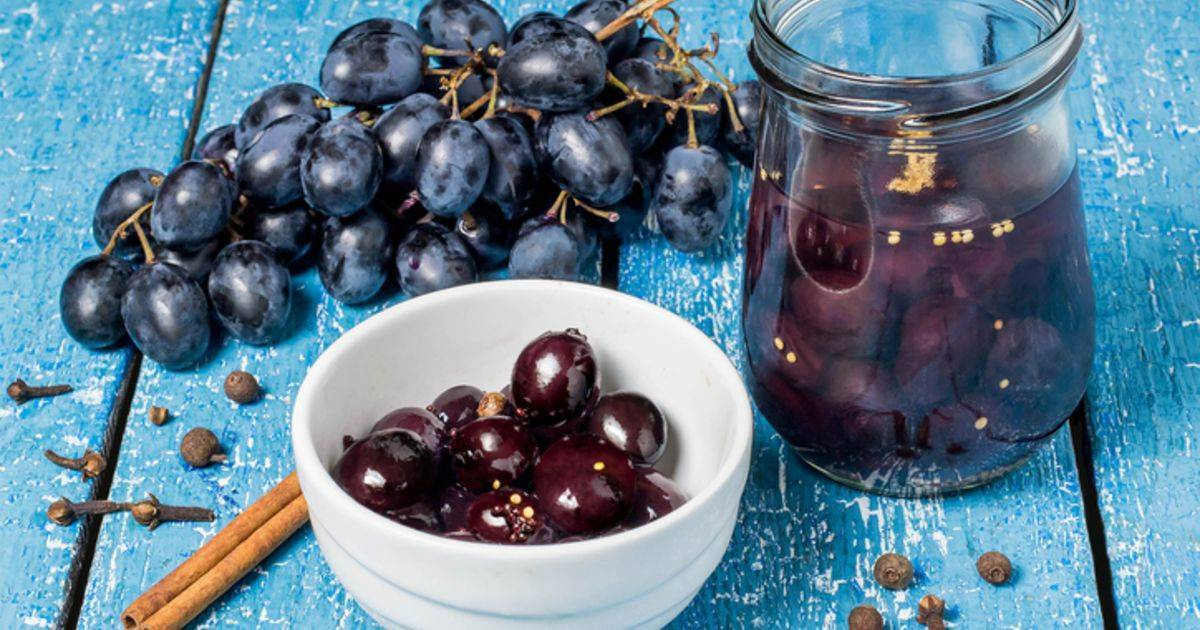 Маринованный виноград на зиму: рецепт без стерилизации :: syl.ru