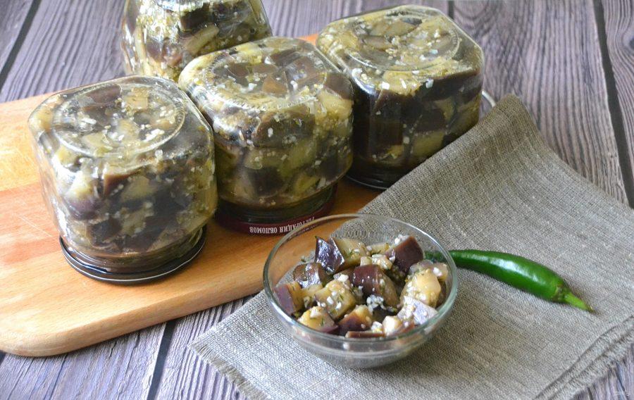 14 быстрых рецептов приготовления маринованных баклажанов с чесноком и зеленью на зиму