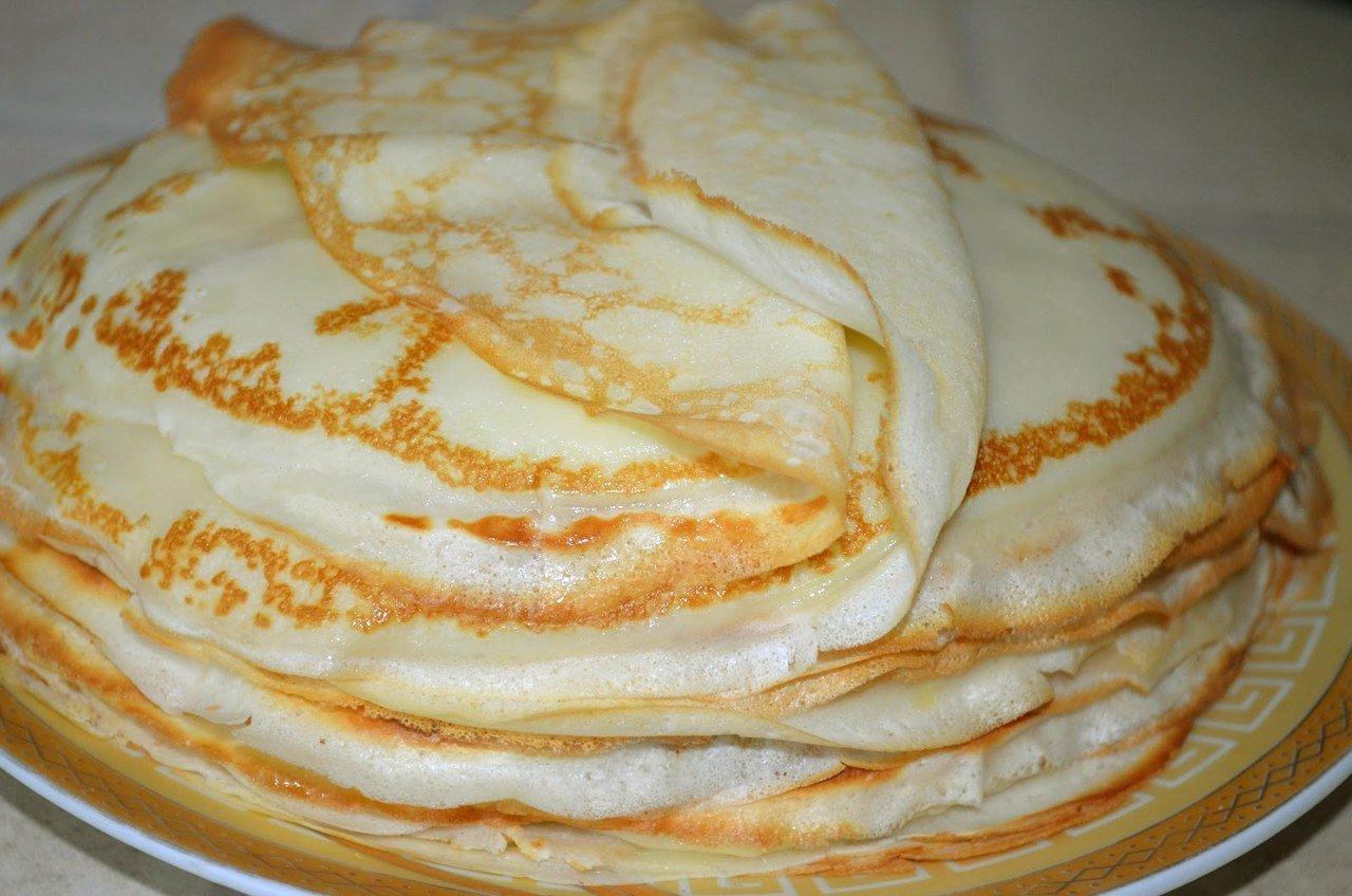 Блины на кислом молоке - 9 вкусных рецептов тонких блинов с дырочками с фото пошагово