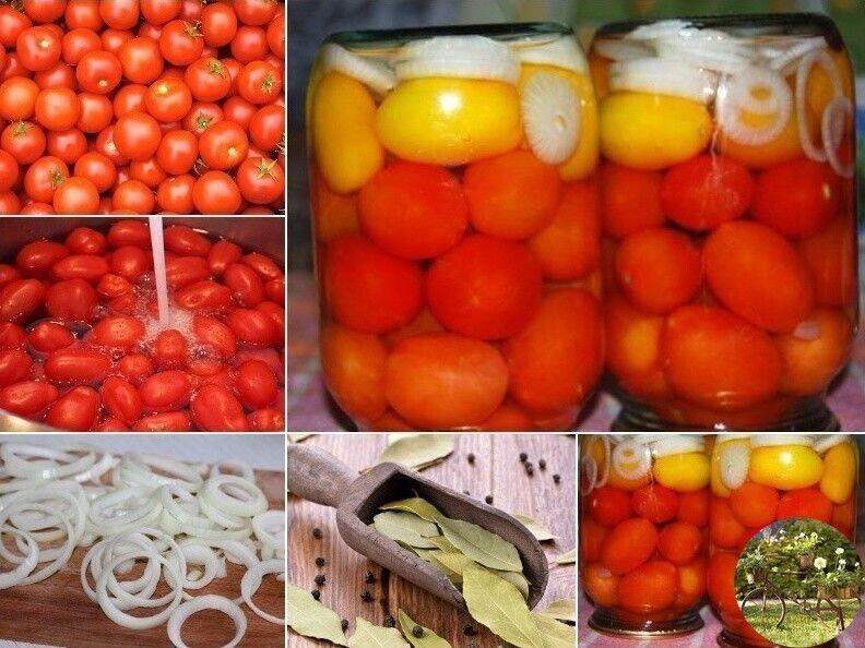 Рецепт маринованных помидоров с лимонной кислотой