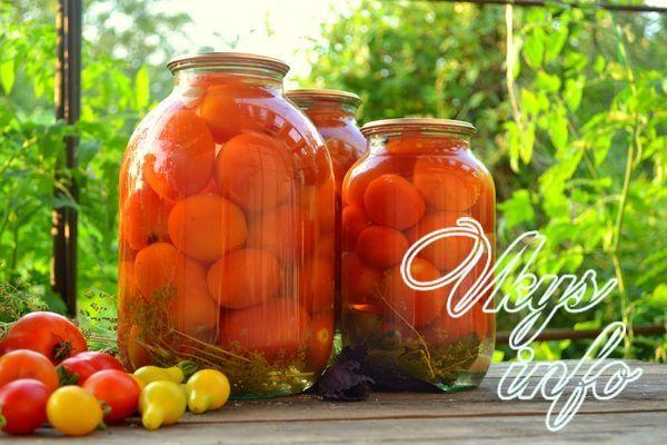 Маринованные помидоры с лимонной кислотой: топ-7 рецептов на зиму на 1 литр
