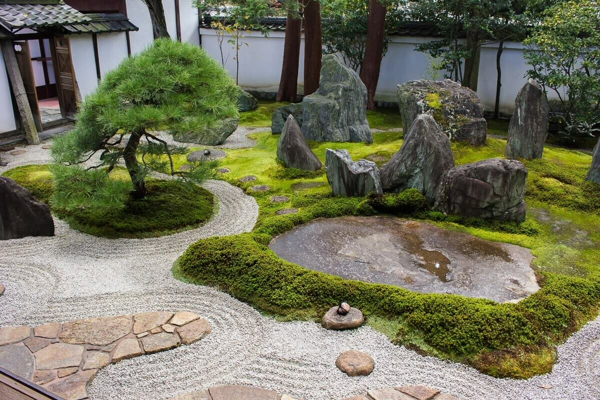 Стили ландшафтного дизайна (98 фото): особенности «японского» направления, альпийский  пейзажный декор