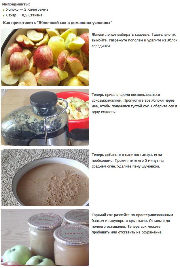Яблочный сок на зиму: рецепты в домашних условиях через соковыжималку с фото