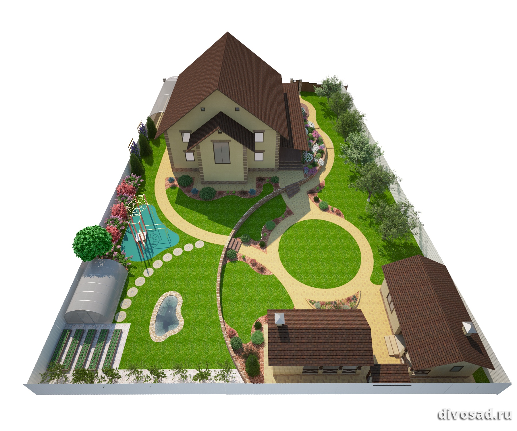 Планировка участка — пошаговая инструкция обустройства и оформления дома!