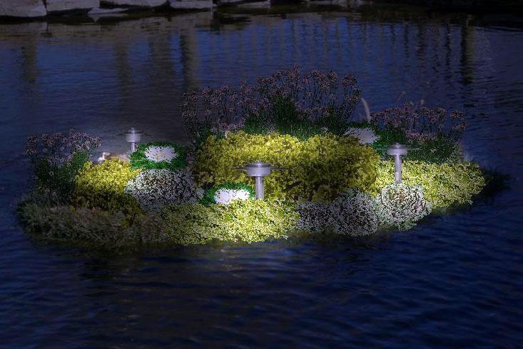 Плавающие клумбы - эксклюзивное украшение водоёмов – дачные дела