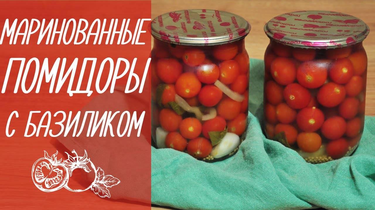 Помидоры с базиликом на зиму: рецепты маринования и консервирования с фото