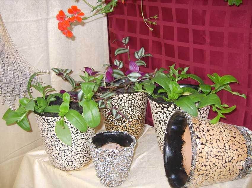 Декор цветочных горшков своими руками — 25 фото