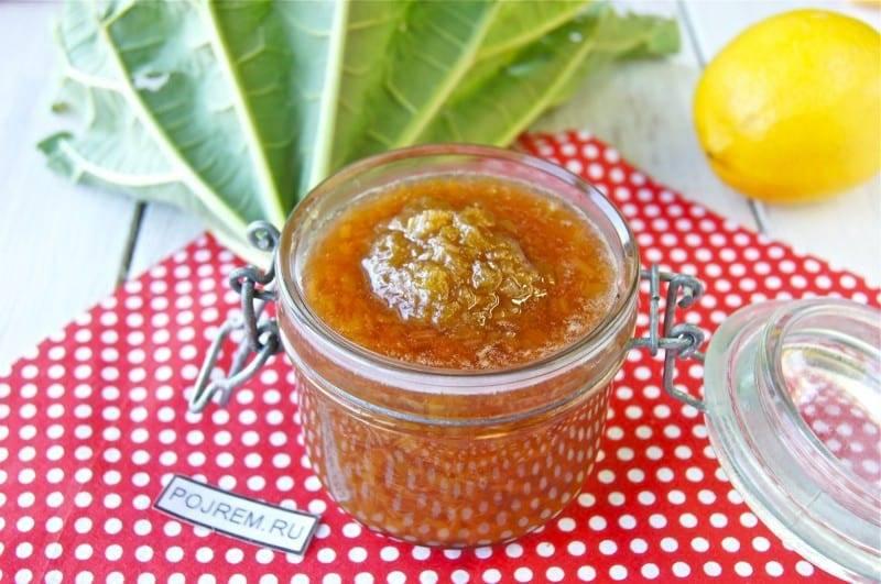 Варенье из ревеня, рецепты на зиму, вред и польза. варенье из ревеня с апельсином, лимоном, бананом, клубникой пошагово