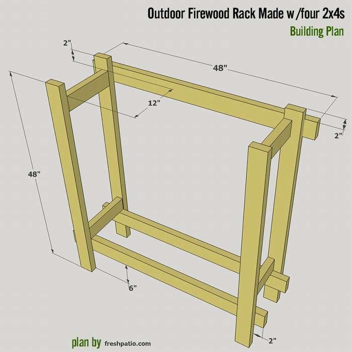 Способы изготовления дровника для дачи своими руками