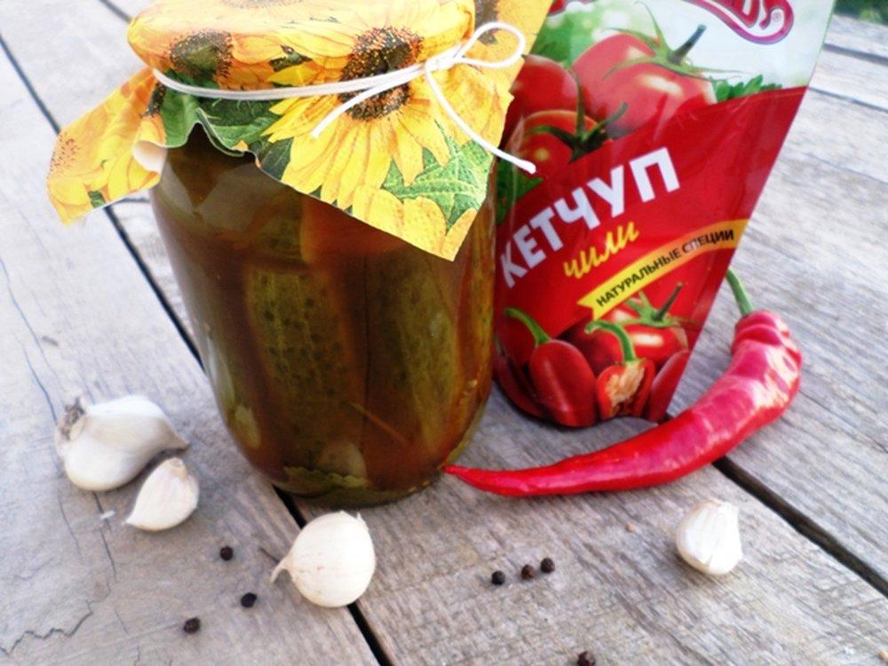 Маринованные кабачки с кетчупом чили торчин на зиму - пошаговый рецепт в литровые банки