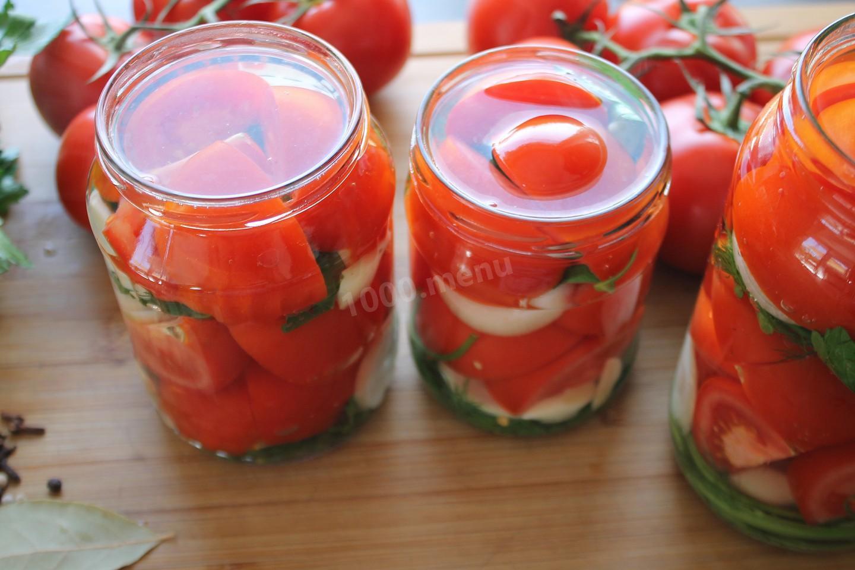 Маринованные помидоры острые на зиму с перцем, ну очень вкусные, на 3 литровую банку, рецепт с фото
