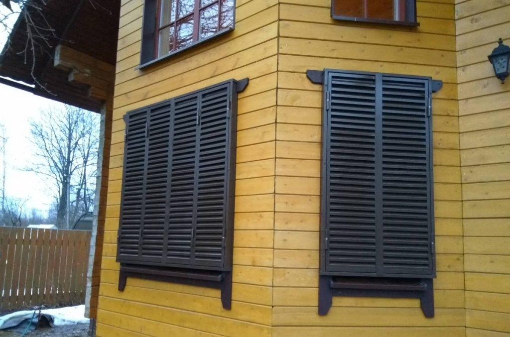 Как установить деревянные ставни на окна своими руками – дачные дела