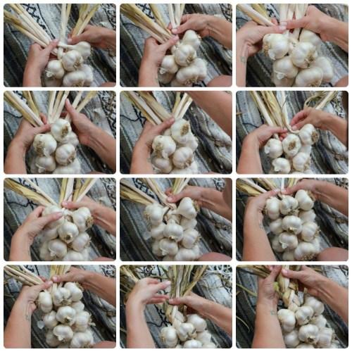 Как связать чеснок для хранения в косу: схемы плетения с фото и видео
