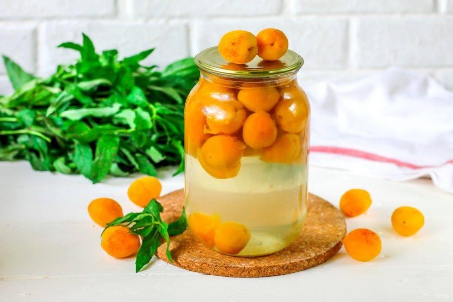 Компот из абрикосов на зиму: простой рецепт без стерилизации на 1 литр и 3 литровую банку