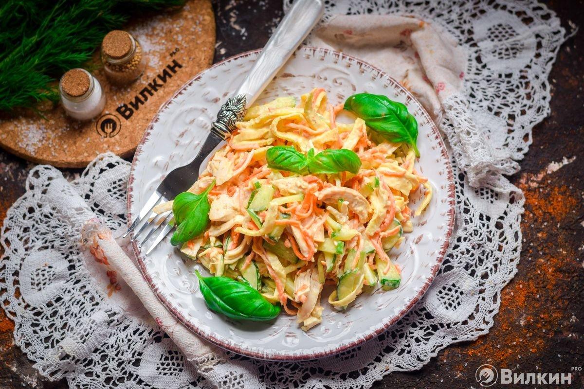 Салат с яичными блинчиками – 8 очень вкусных рецептов салатов из блинов
