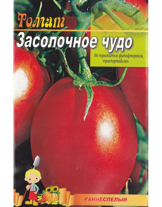Томат засолочное чудо: характеристика и описание сорта, урожайность с фото
