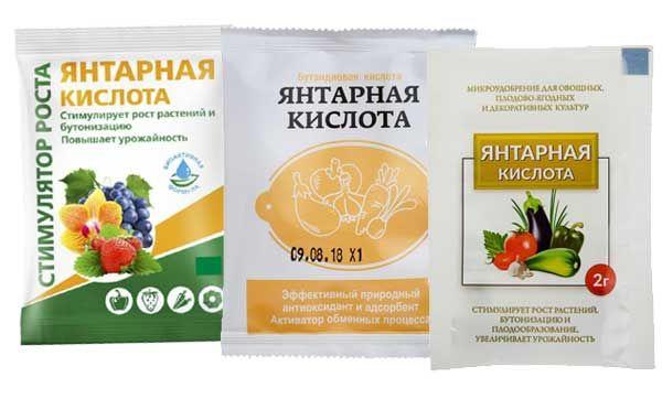 Инструкция по применению янтарной кислоты для растений, дозировки для приготовления раствора