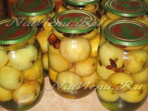 Как сделать компот из яблок на зиму по пошаговому рецепту с фото