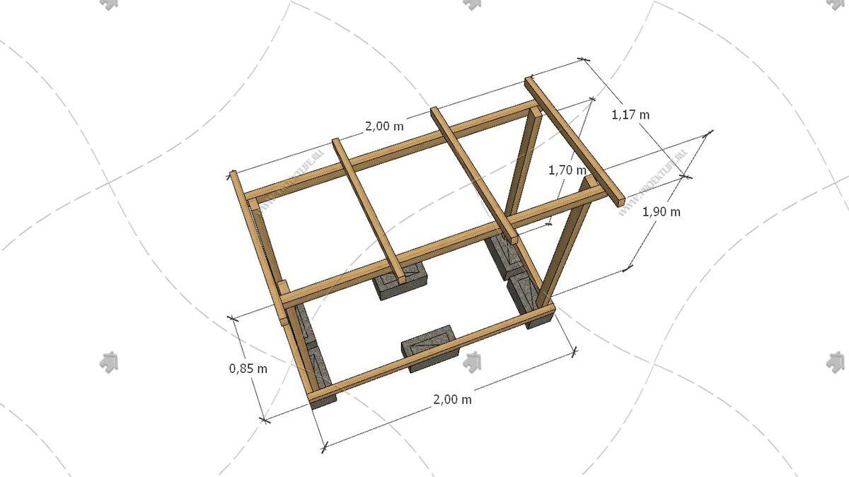 Как построить дровяник своими руками: проекты дровницы, чертежи, список стройматериала для дровника, размеры