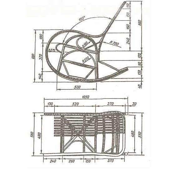 Кресло-качалка своими руками: разновидности, инструкции и чертёж