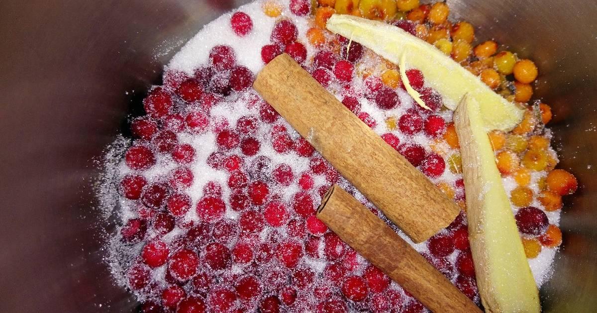 Брусничный морс из замороженных ягод