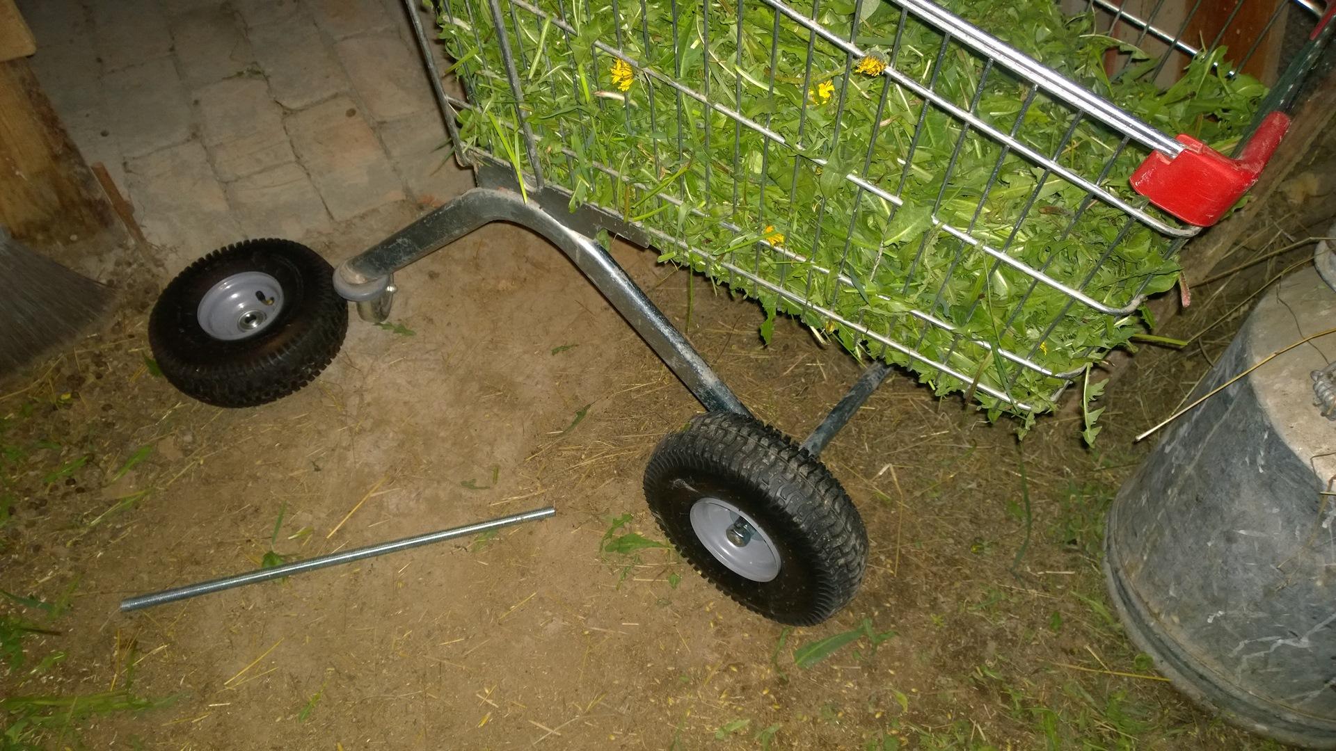 Как сделать 4 колесную тележку