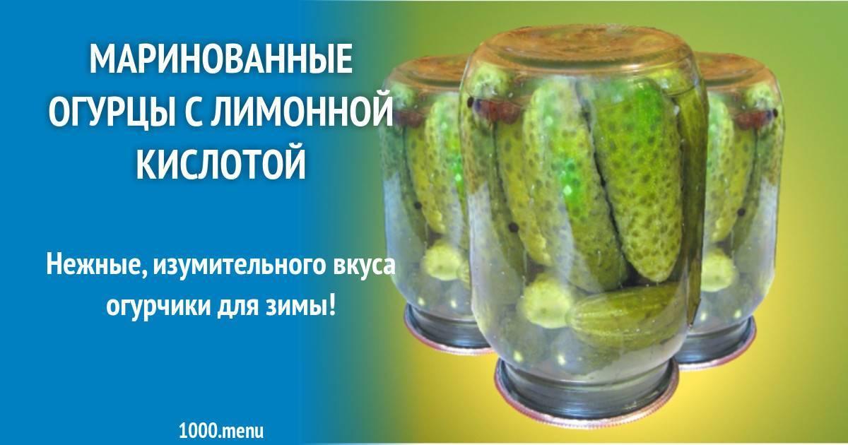 Маринованные огурцы с лимонной кислотой - вкусные рецепты на зиму
