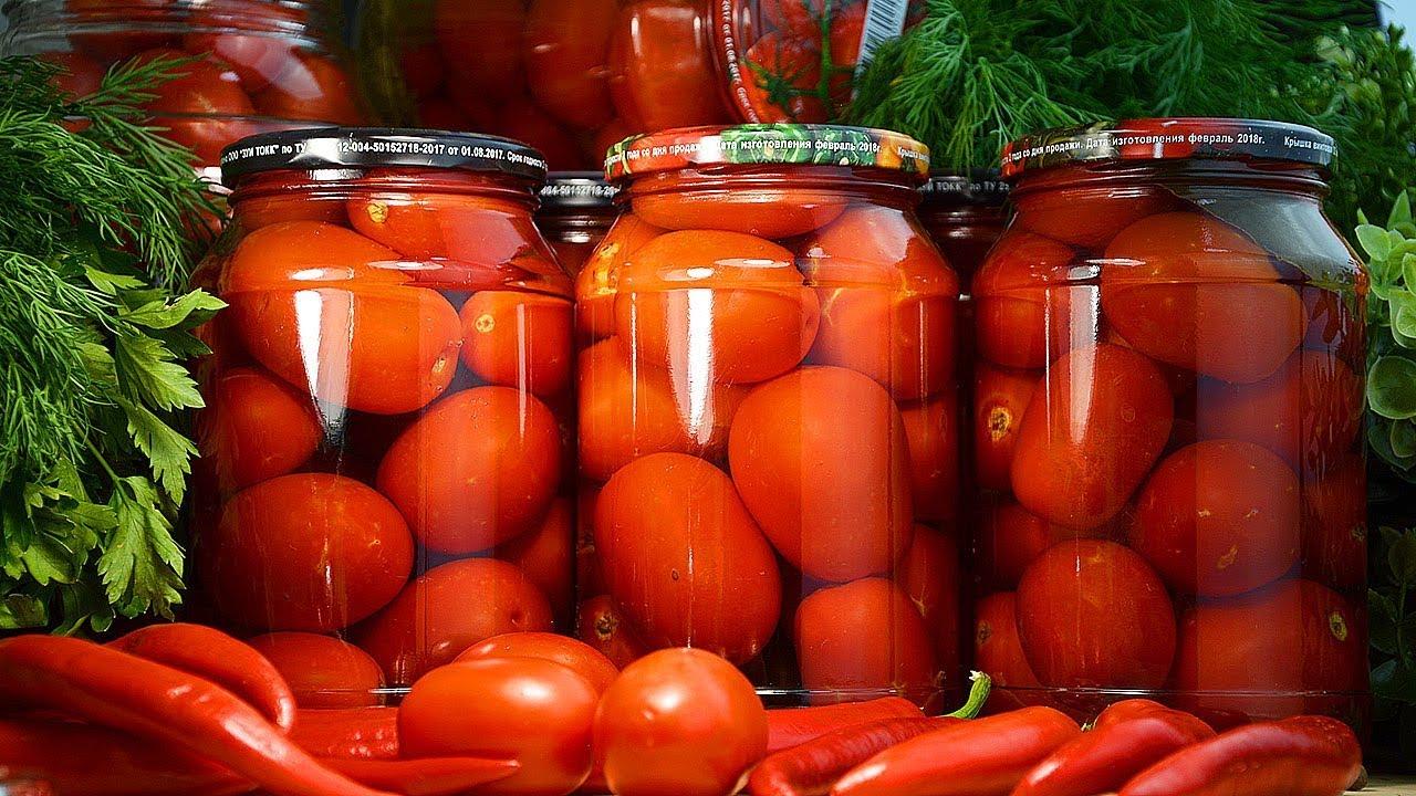 ТОП 10 рецептов приготовления на зиму маринованных остро-сладких помидоров
