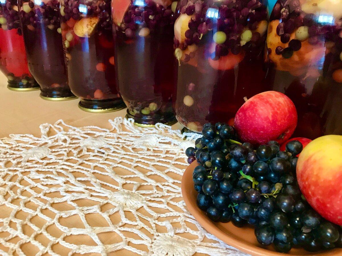 Компот из винограда на зиму – рецепты консервированного и сваренного в кастрюле