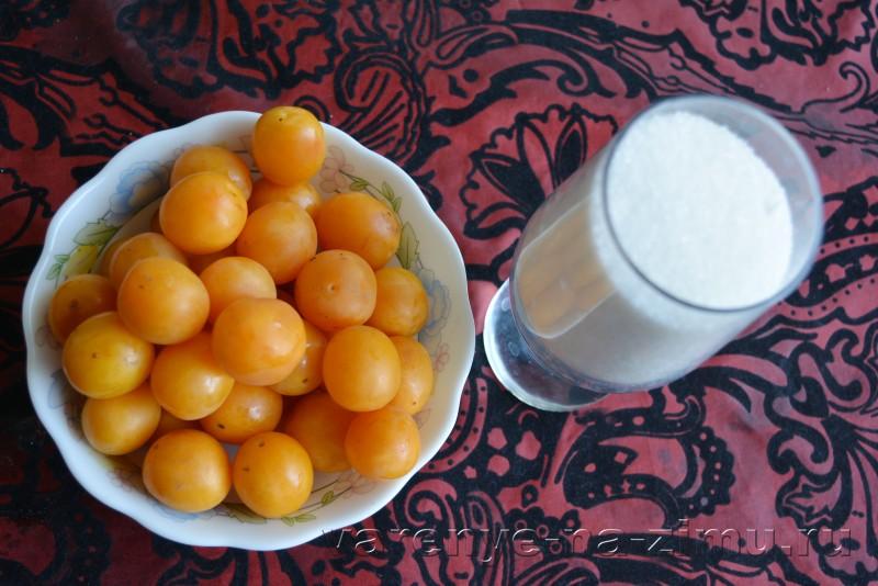 Янтарное варенье из желтой алычи – пошаговый рецепт с фото