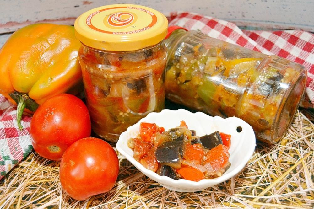Баклажаны с помидорами на зиму: 18 лучших пошаговых рецептов приготовления