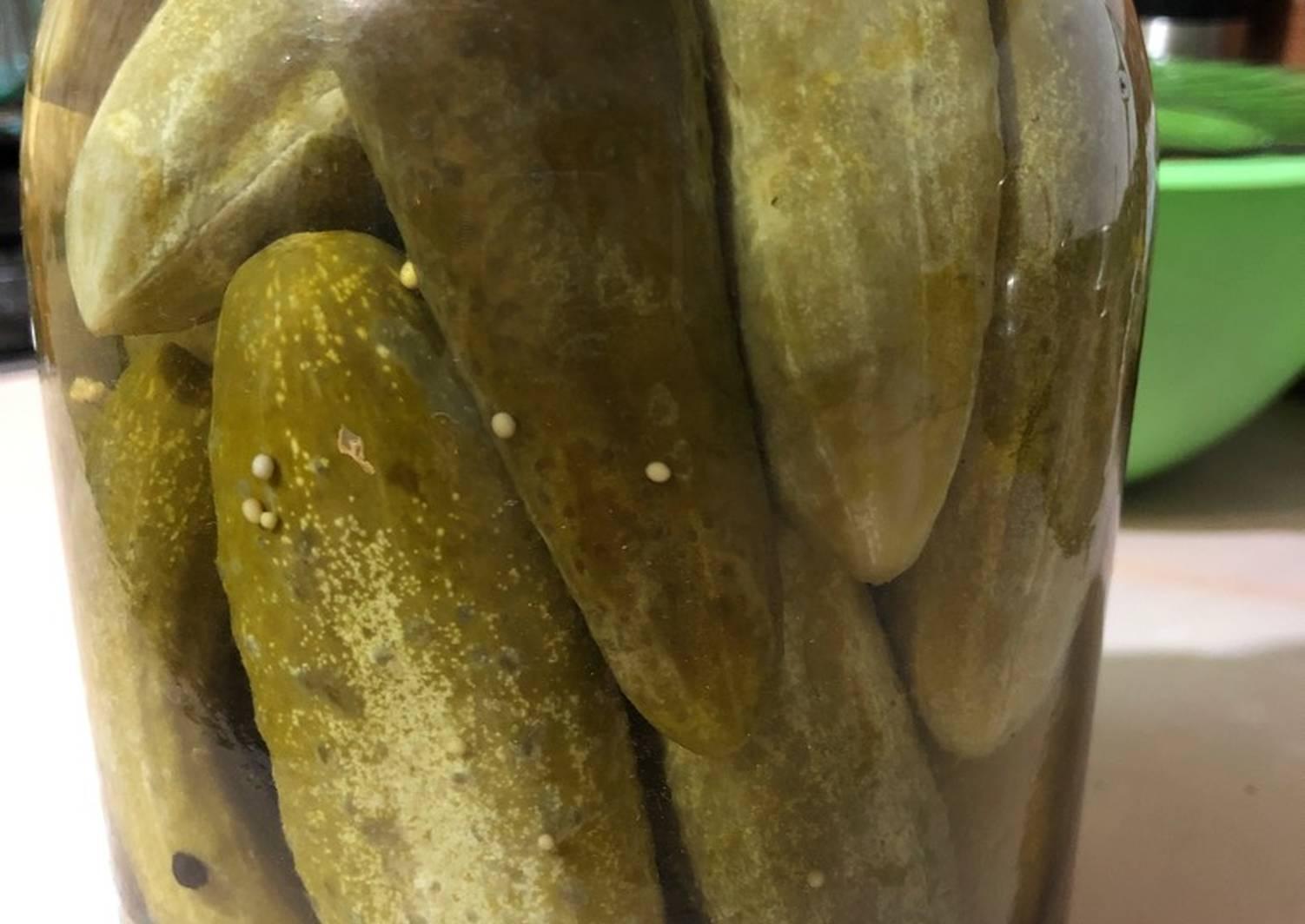 Маринованные огурцы с лимонной кислотой на зиму -пошаговый рецепт с фото