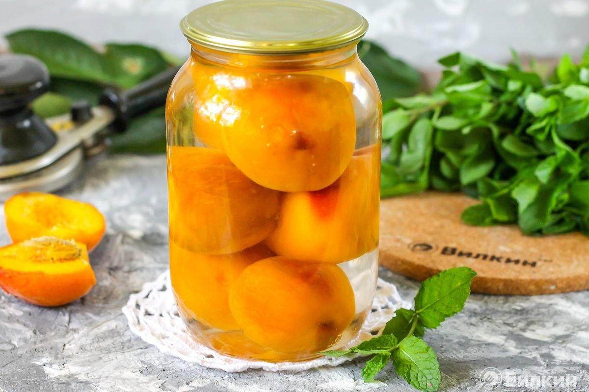 Как замариновать персики в сиропе на зиму: 4 пошаговых рецепта приготовления