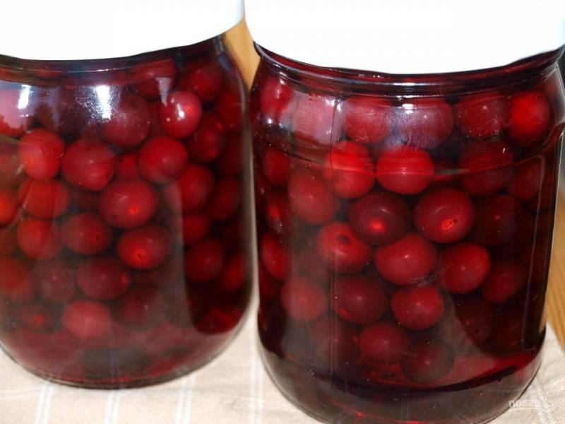 Компот из вишни на зиму на 3 литровую банку рецепт с косточками