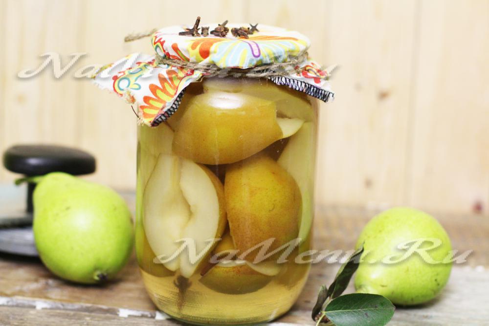 Маринованные груши без стерилизации с лимонной кислотой попольски с чесноком