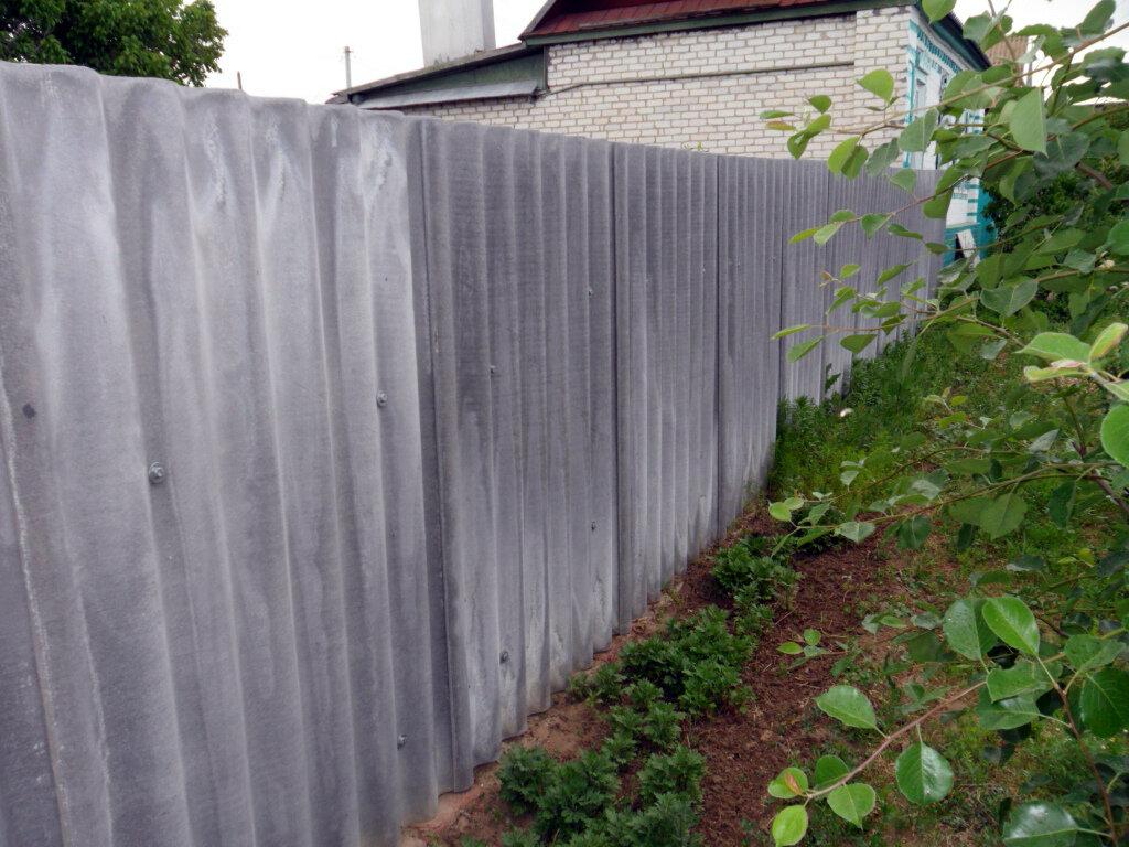 Забор из шифера своими руками - изготовление забора из шифера(+фото, схемы) | стройсоветы