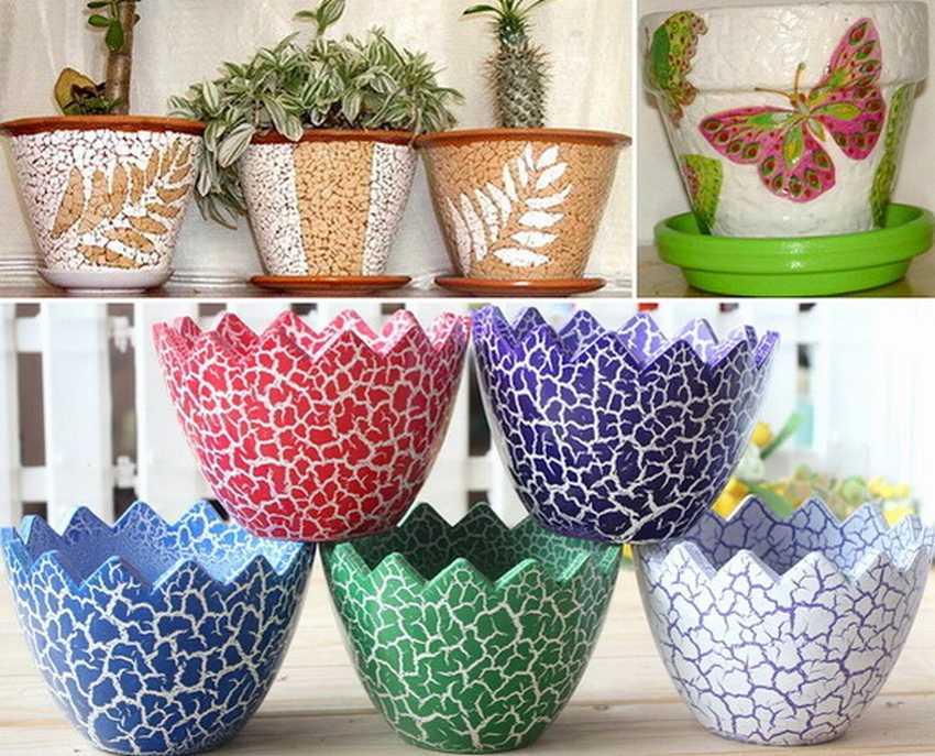 Декор горшков для цветов своими руками - 25 фото