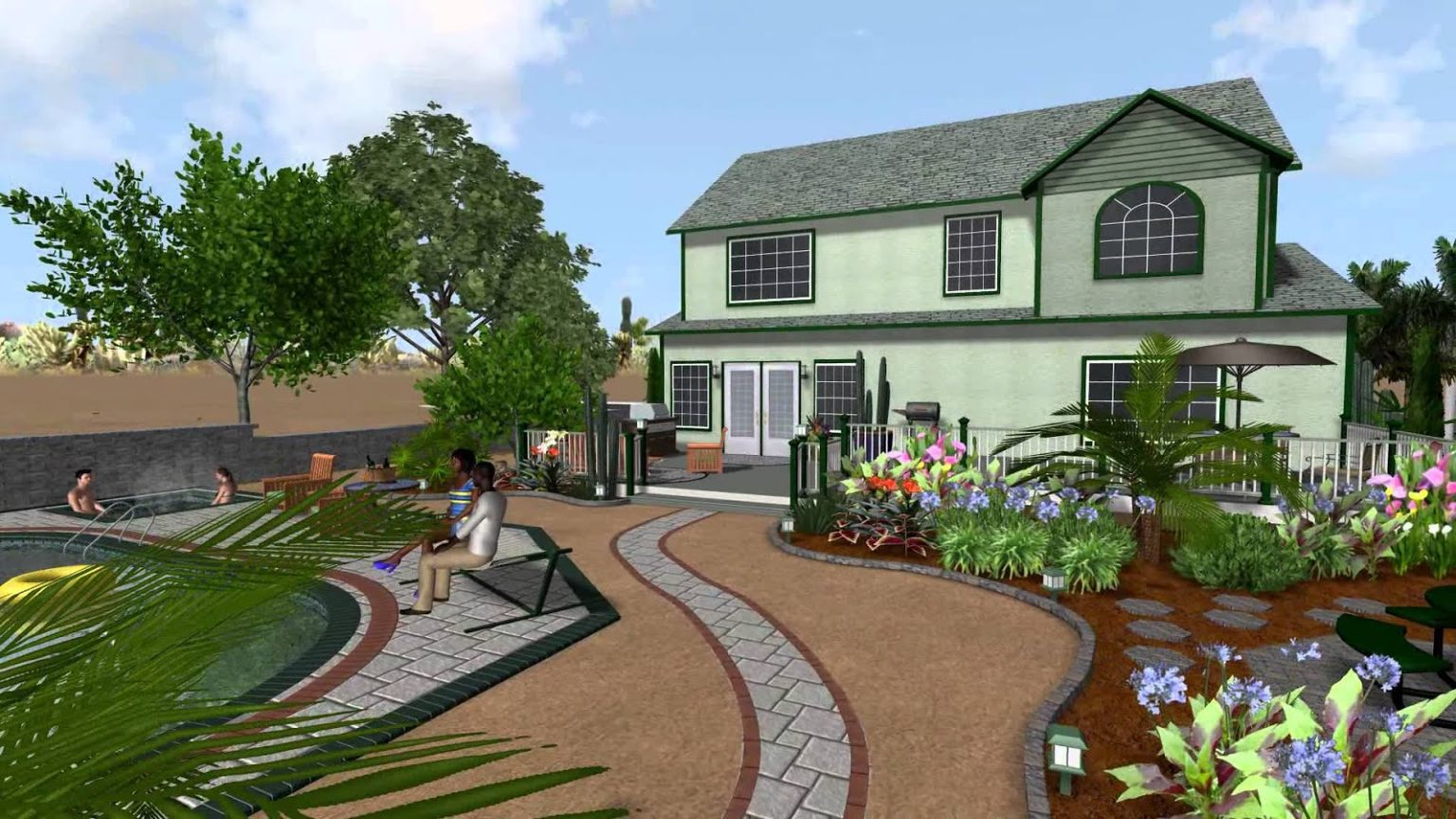 Уроки realtime landscaping architect - урок №3   flokus.ru - ландшафтный дизайн