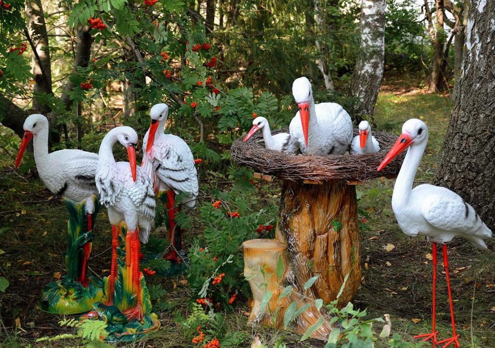 Садовые фигуры своими руками: выбор материала, ход работы