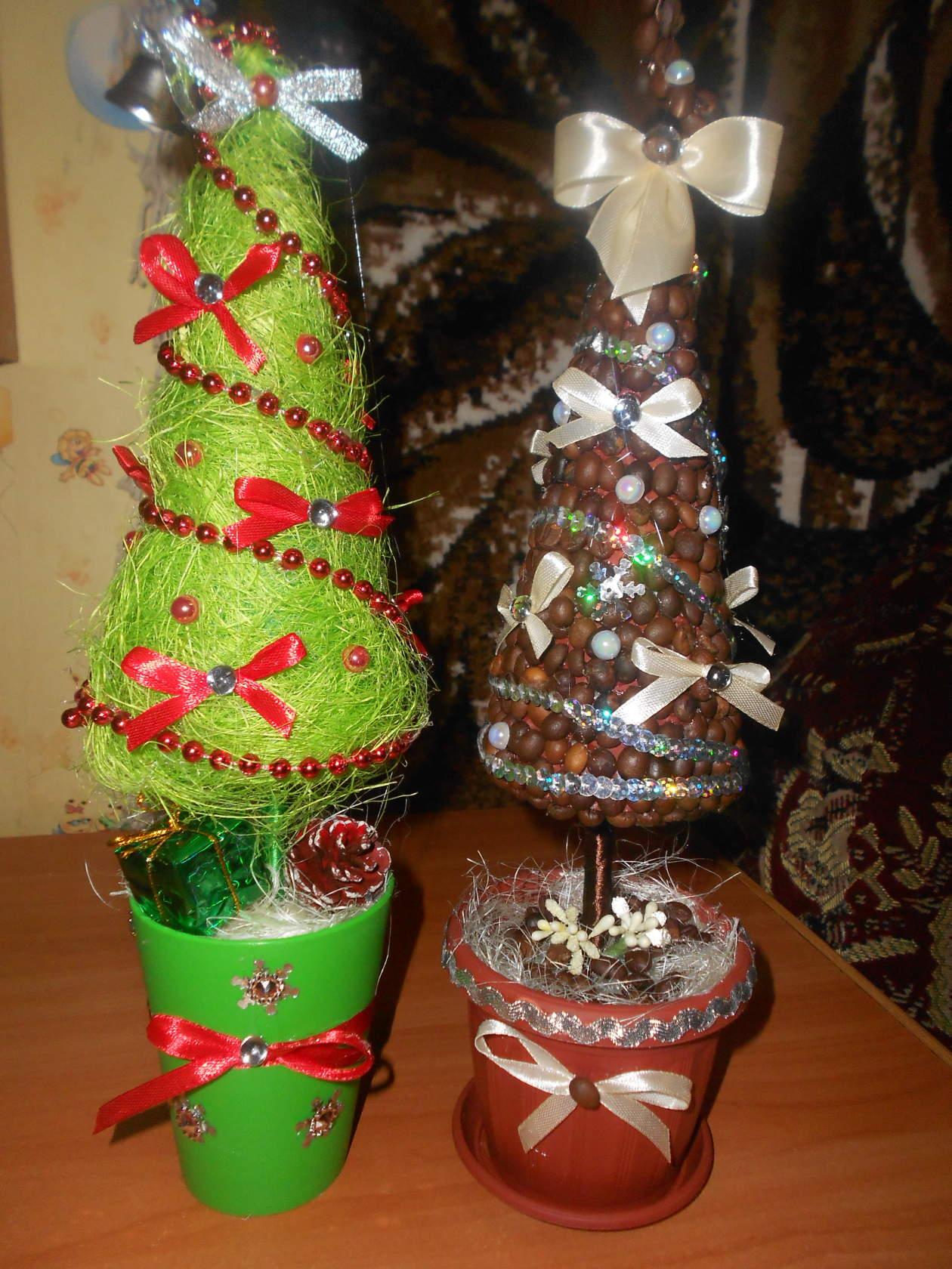 Топиарий елка своими руками – кусочек новогоднего праздника на вашем рабочем столе