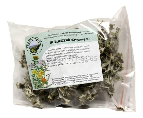 Исландский мох и его лечебные свойства