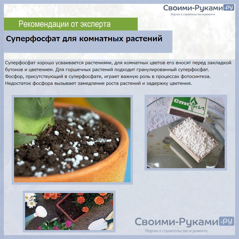 Суперфосфат удобрение - инструкция по применению