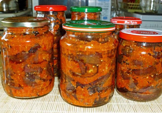 Салат из баклажанов на зиму рецепты с фото пальчики оближешь фоторецепт.ru