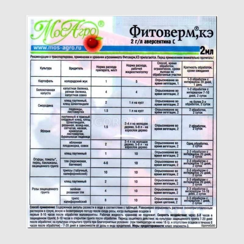 Инструкция по применению «Фитоверма» для огурцов, дозировки и обработка