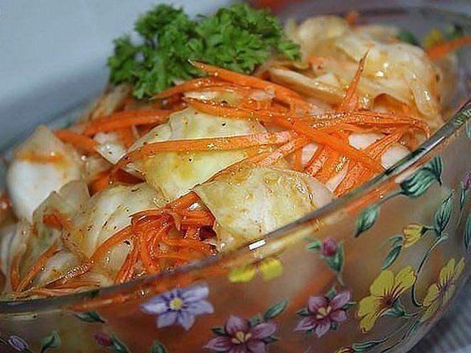 Цветная капуста по-корейски на зиму: рецепты быстрого приготовления с фото и видео
