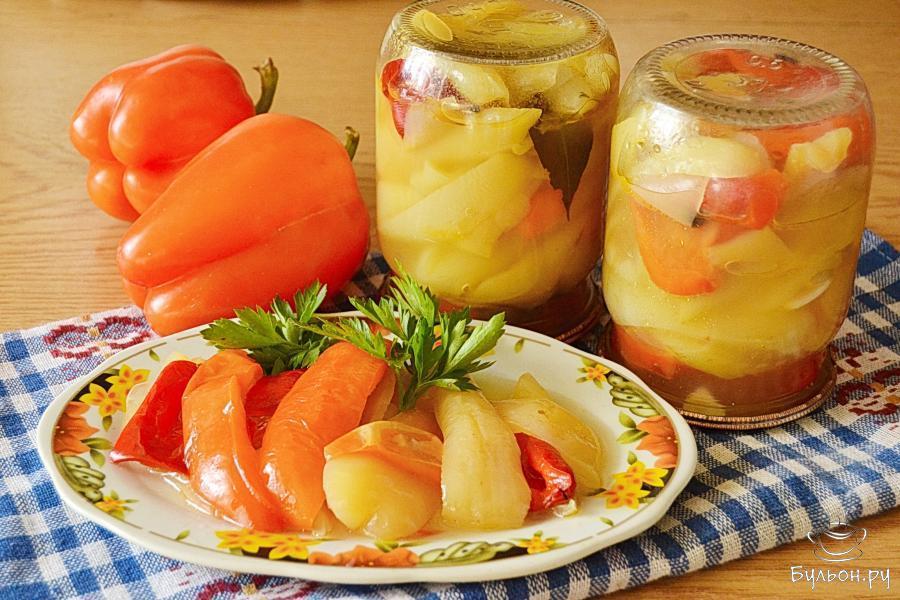 Перец в сладкой заливке на зиму: 4 пошаговых рецепта приготовления, условия хранения