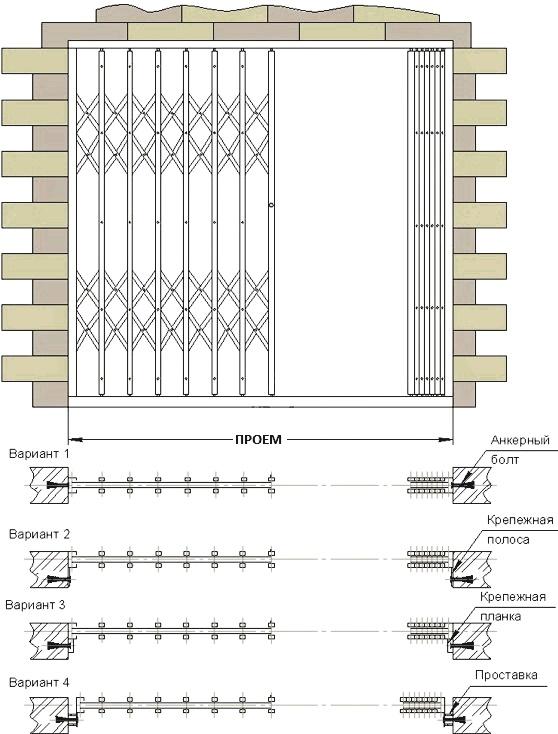 Установка решеток на окна — виды и способы крепления